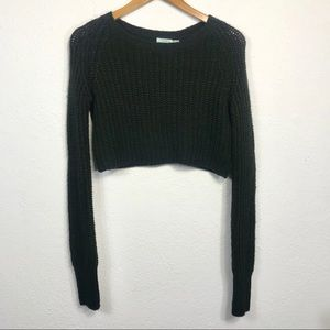 Urban Outfitters Kimchi Blue Black Cropped Sweater